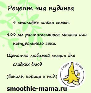 Рецепт как приготовить чиа пудинг от сайта Смузи Мама: для здоровья и активной жизни #smoothies #smoothiebowls #smoothiesaturday #recip #recipes #vegan #snacks #смузимама