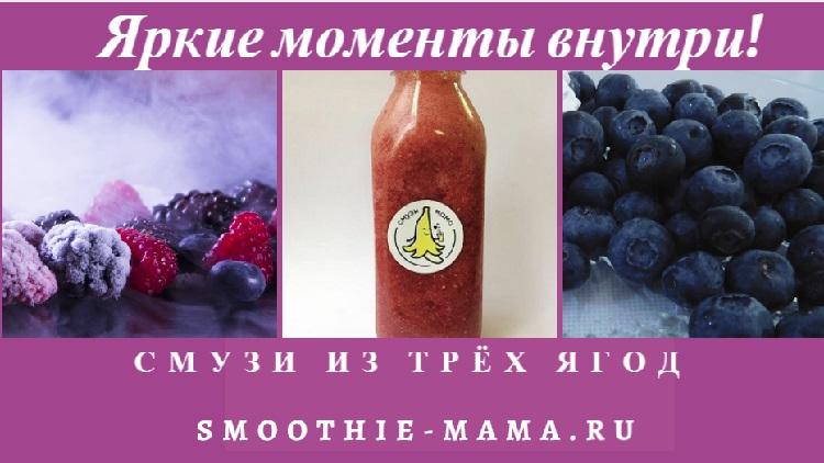Смузи в бутылочке из трех ягод. Смузи Мама в СПб